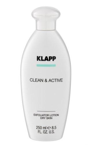 Klapp Clean & Active Exfoliator Lotion Dry Skin 250 ml