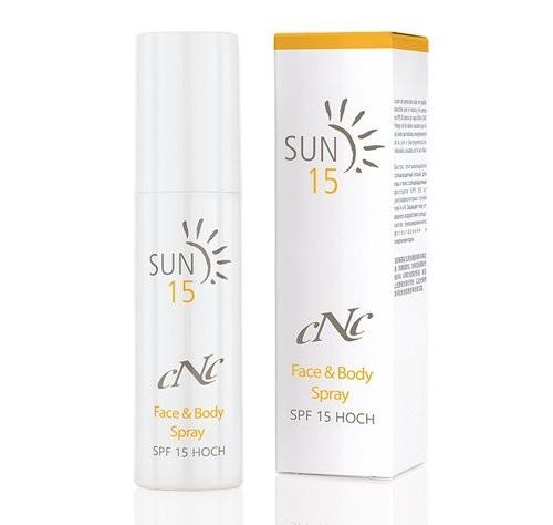 CNC Sun Face & Body Spray SPF15, 100 ml