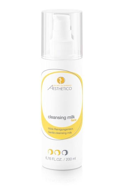AESTHETICO cleansing milk - Milde seifenfreie Reinigunsgmilch bei trockener oder Neurodermitishaut,