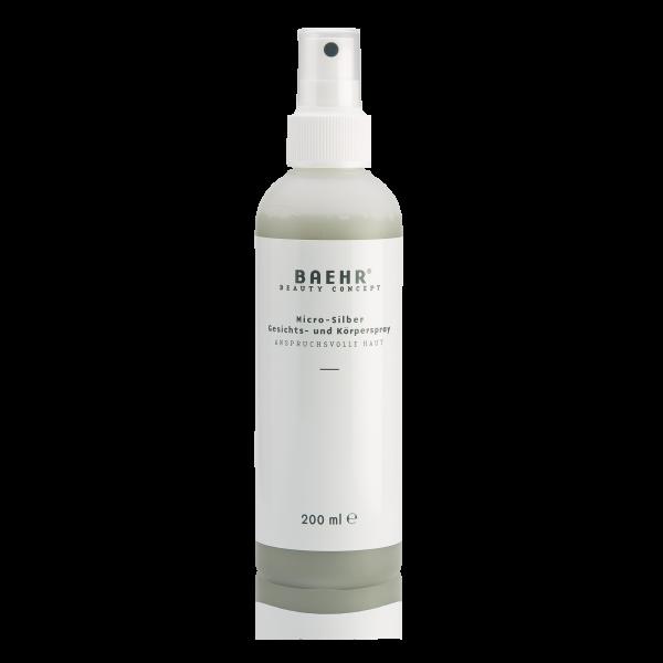 BAEHR BEAUTY CONCEPT Micro-Silber Gesichts-und Körperspray 200 ml